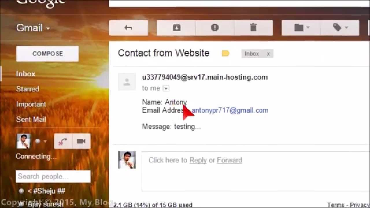 Simple Contact/Feedback Form in HTML-PHP mailer - YouTube