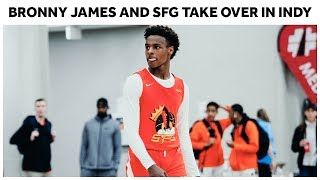SUPER TEAM?! Bronny James, Dior Johnson, and Skyy Clark Take Over in Indy - Full Highlights