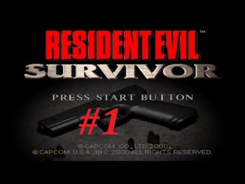 Resident Evil Survivor Walkthrough (1) The Church, Restaurant & Movie Theater