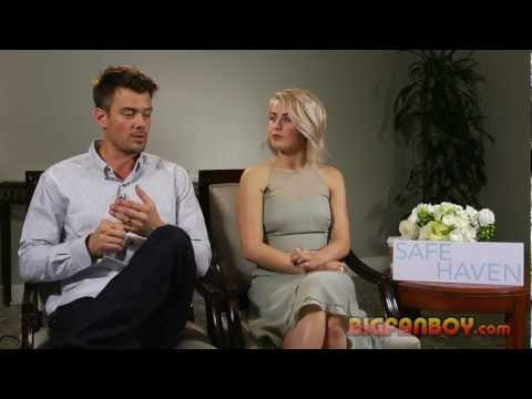 SAFE HAVEN interview with Josh Duhamel and Julianne Hough during their Dallas press tour