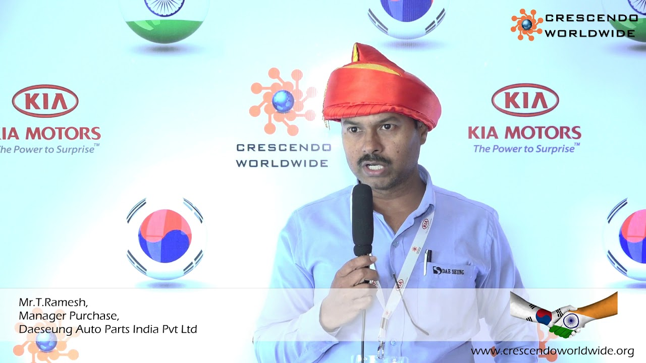 Daeseung Auto Parts India Pvt Ltd, Testimonial For Crescendo Worldwide