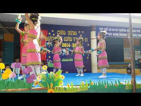 """Trường Mg Phú Thuận hát múa """" cô giáo miền xuôi"""""""