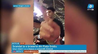Scandal la o braserie din Piața Ovidiu