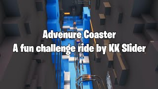 Adventure Coaster: The longest player coaster in Fortnite! A fun challenge ride by KK Slider.