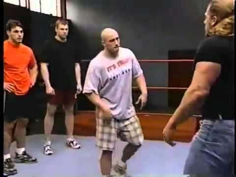 Triple H lectures Tough Enough cast.  ...
