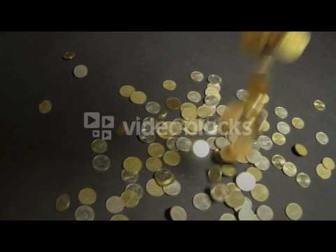 macedonian money coins falling in slow motion metal coins from macedonia b5l0ooqbg  WL