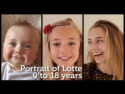 Portrait of Lotte, 0 to 18 years