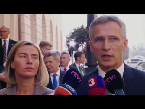 NATO News: SG Stoltenberg arrived in Bratislava for the European Union Defense Ministers' Meeting.