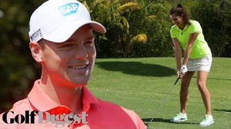 Martin Kaymer Gives German Golf Lesson to Amateur American | Golf Digest