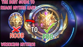 EASY WAY TO REACH MYTHIC | FROM NOOB LEGEND TO PRO MYTHIC | MOBILE LEGENDS