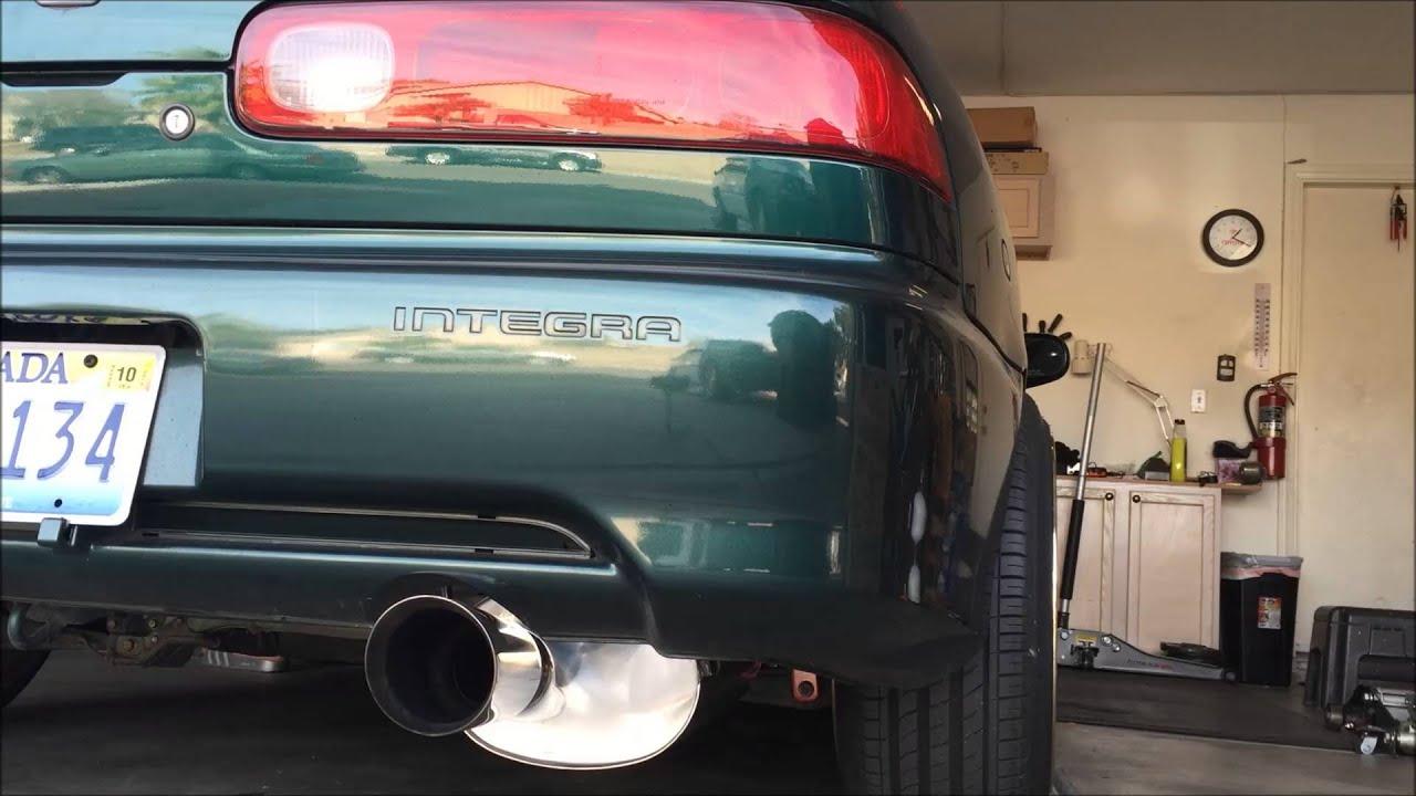 stock vs yonaka exhaust system acura integra gsr