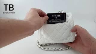 Обзор сумки CHANEL mini белого цвета