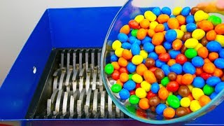 SHREDDING 1000 M&M's CANDY!