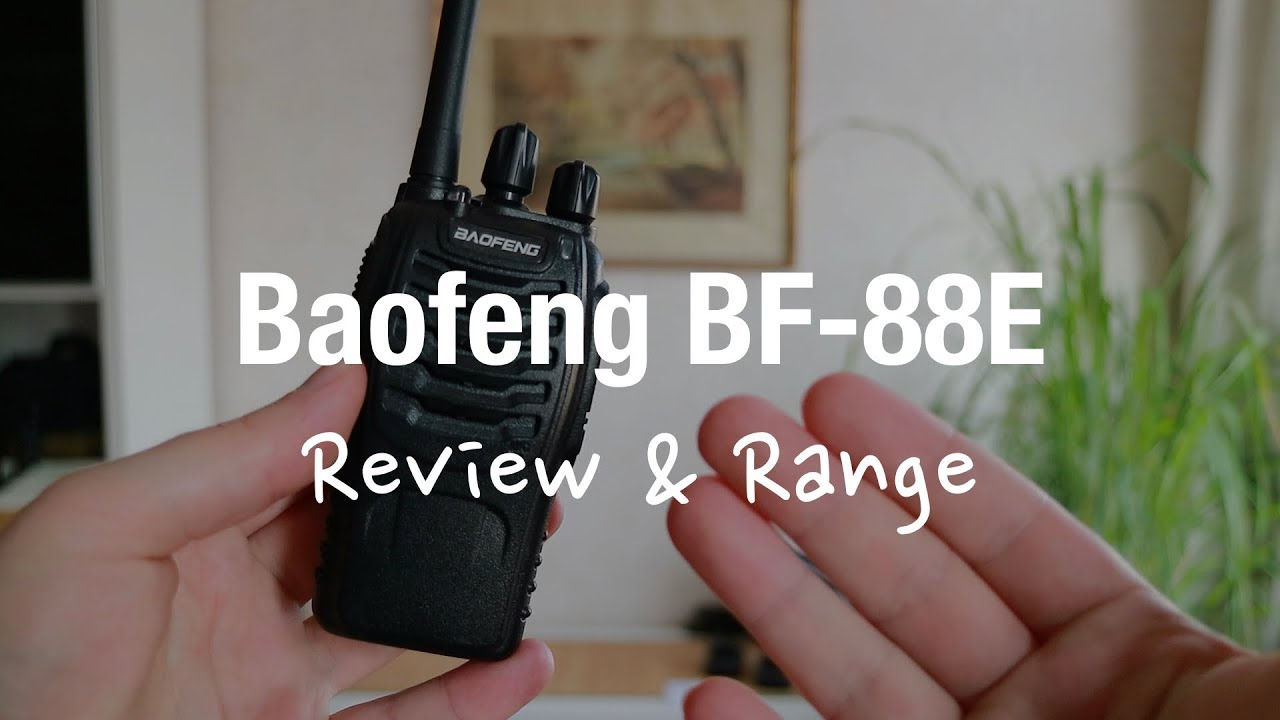 Baofeng Bf 88e Pmr Two Way Radio Review And Range Test Youtube