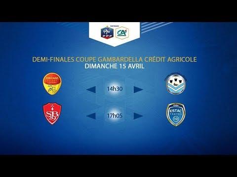 COUPE GAMBARDELLA-CA I Demi-Finales - Stade Brestois/ESTAC - 15/04