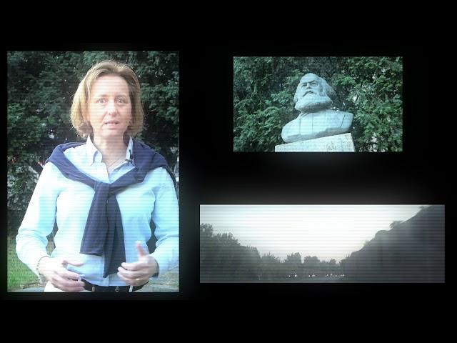 Beatrix von Storch (AfD) – die Büste des Rassisten Karl Marx verhüllt