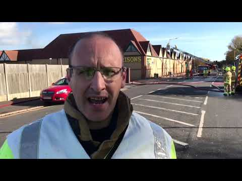 Interview: Fire at Morrisons supermarket - Cheriton Road, Folkestone