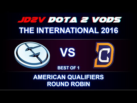 EG vs DC VOD - The International 2016, AM QLs Round Robin / Universe BM / w33 Invoker DOTA 2