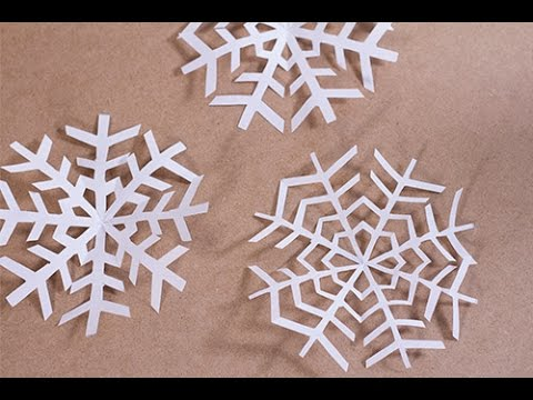 diy no l flocon de neige en papier youtube. Black Bedroom Furniture Sets. Home Design Ideas