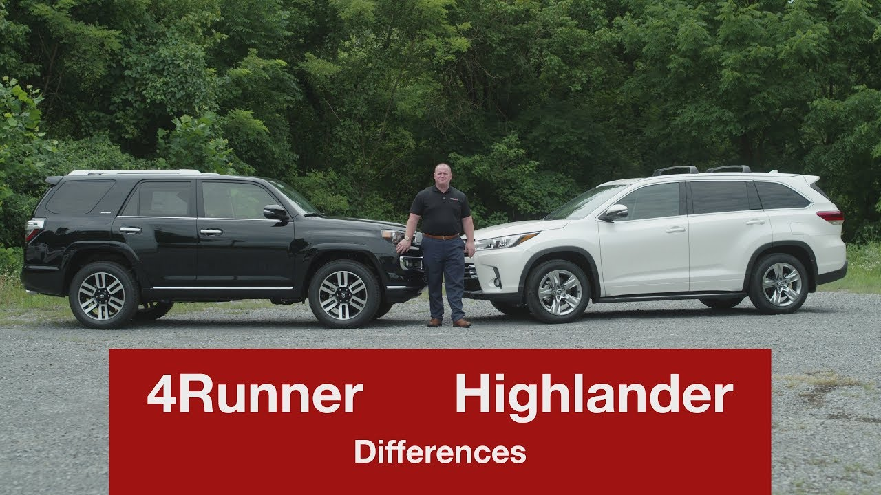 Toyota Highlander Vs Toyota 4Runner >> Highlander Vs 4runner