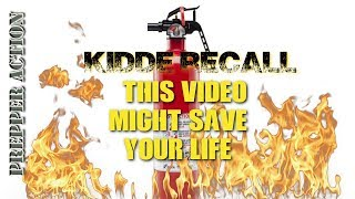 KIDDE Fire extinguisher Recall, what you need to know
