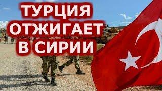 Турецкая армия выпустила по территории Сирии не менее 60 ракет