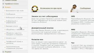 Обзор сайта Beeline. Мобильная связь (2/5)