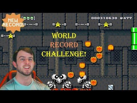 Continuing The World Record Challenge! Attempt #2 - Super Mario Maker