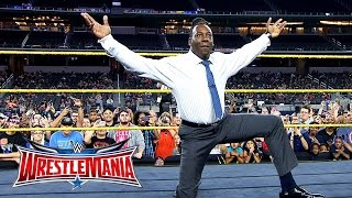 Booker T battles Brandon Carr in Spinaroonie-off: WrestleMania On-Sale Party, November 5, 2015