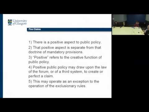 The Forms and Functions of Public Policy in International Private Law