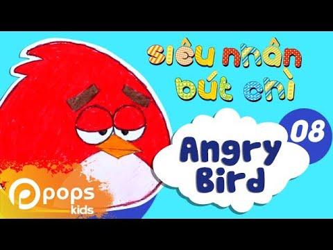 Hướng Dẫn Vẽ Angry Bird – Siêu Nhân Bút Chì – Tập 8 – How To Draw Angry Birds