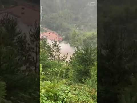 Floodwaters completely destroy a house in Turkey | CAUGHT ON CAMERA #shorts