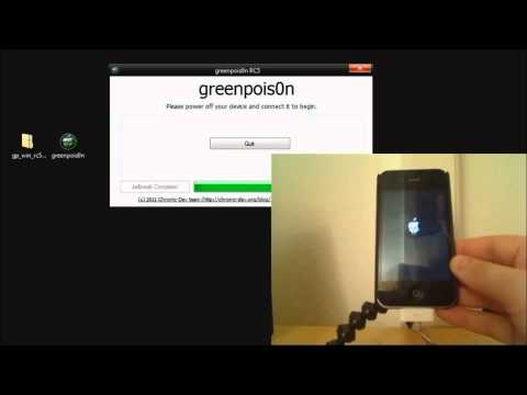 Huong dan Jailbreak unlock iphone 4, 3GS, 3G, Ipod touch Firmware 4.2.1 theo Greenposi0n RC5