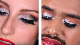 Guys Try Holiday Glam Makeup Tutorials
