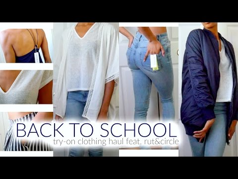 BACK TO SCHOOL TRY-ON CLOTHING HAUL   Rut&Circle • Lawenwoss