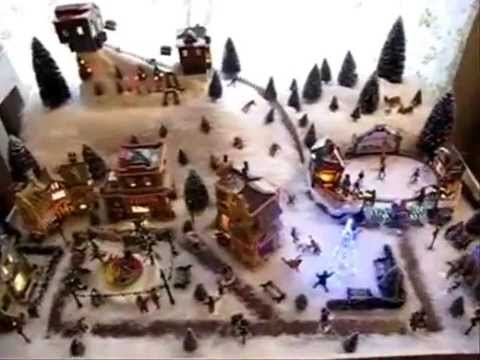 Construction village de no l 2009 youtube - Fabriquer un support pour village de noel ...