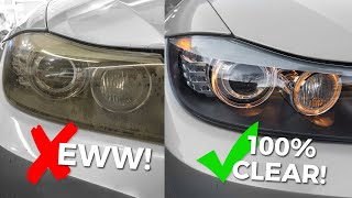 How To Clean & Restore Headlights  Remove Yellow, Foggy Headlight Oxidation!