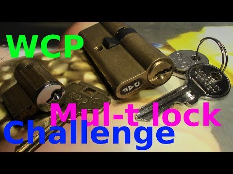 Взлом отмычками Mul-T-Lock   (picking 439) WCP Mul-T lock challenge - picking DAP and esp lock by VDE +funny pin count estimation (That