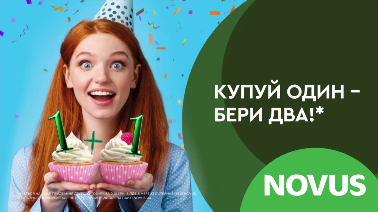 День народження NOVUS! Акційні пропозиції з 6 по 19 жовтня.