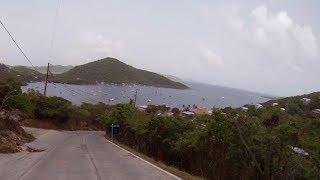 Driving St John USVI - Down Bordeaux Mt Road to Coral Bay