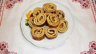 Рулет БИСКВИТНЫЙ \ рецепт диетического блюда для здорового питания \ Низкокалорийный десерт