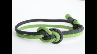 How to Make 2 Color Infinity Double Figure 8 Paracord Bracelet Mad Max Closure Style