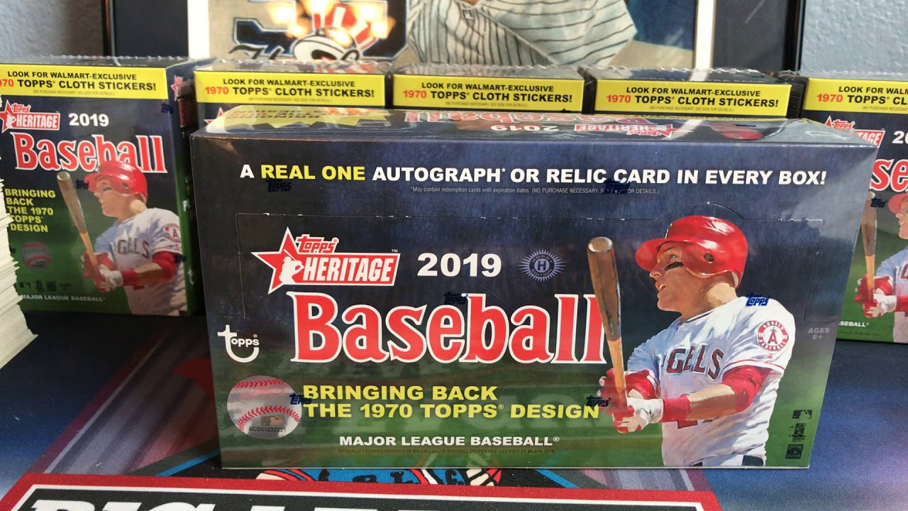 2019 Topps Heritage Hobby Box 1 Auto Or Relic Youtube