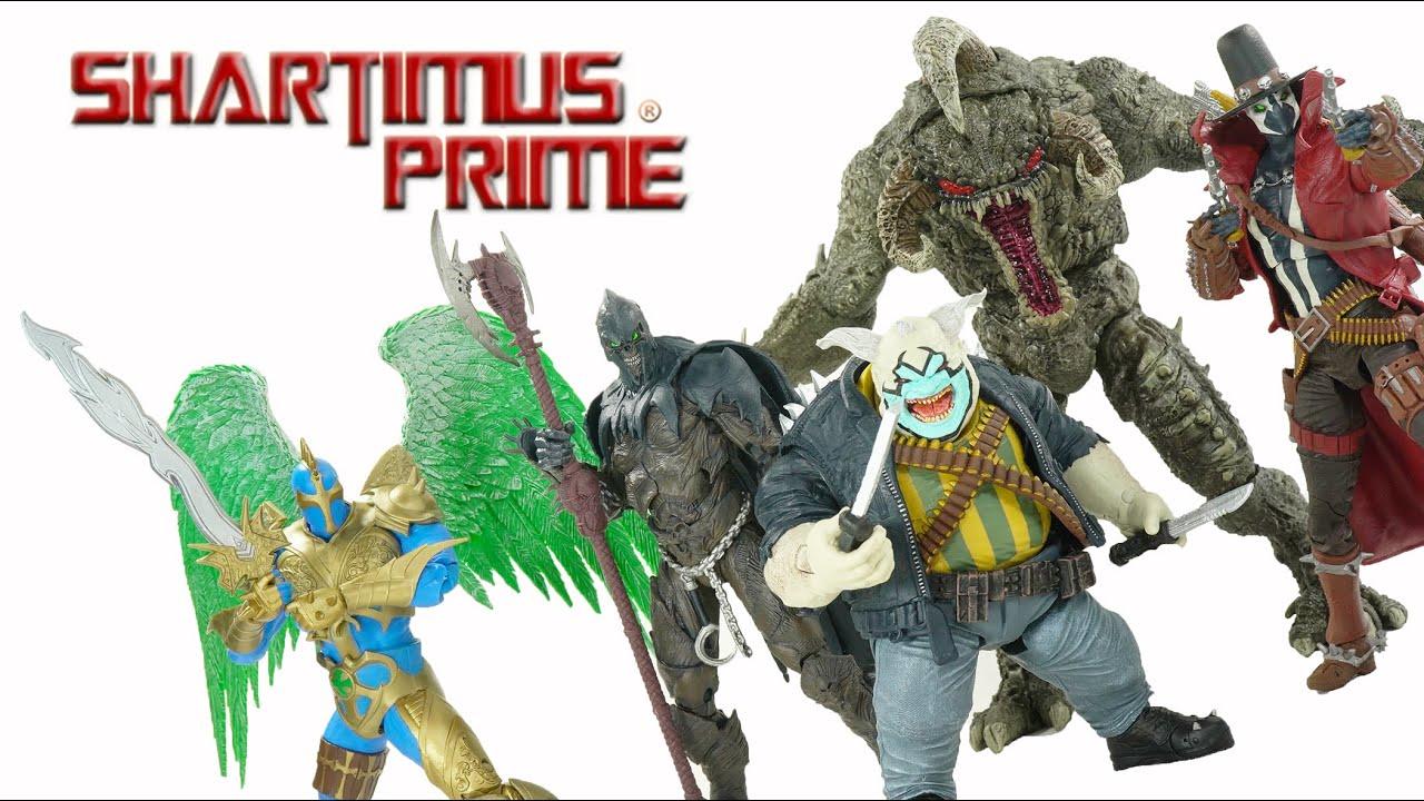 Violator, Clown, Raven, Gunslinger Redeemer - Spawn Universe 2021 Comic McFarlane Toys Figure Review