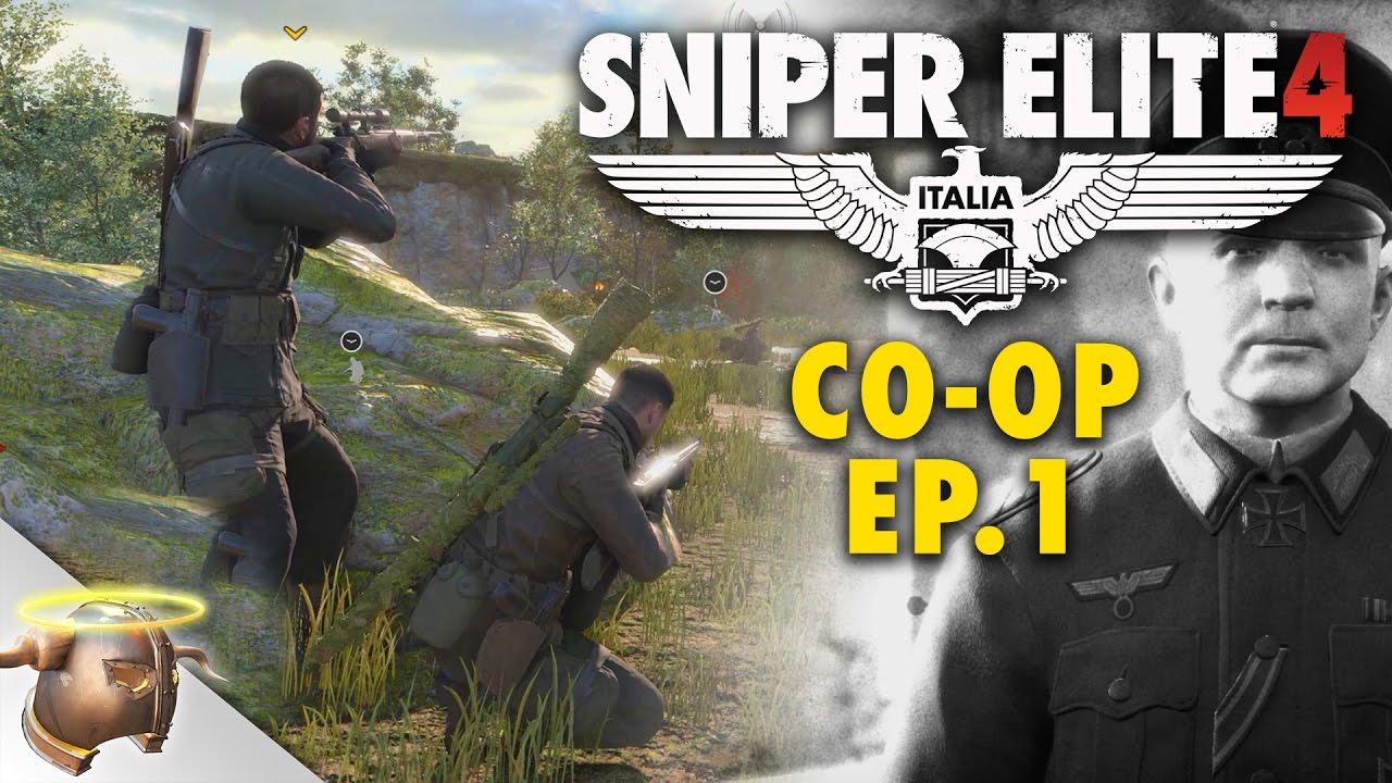 SNIPER ELITE 4: Campaign CO-OP EPISODE 1 - SAN CELINI (Elite Difficulty)