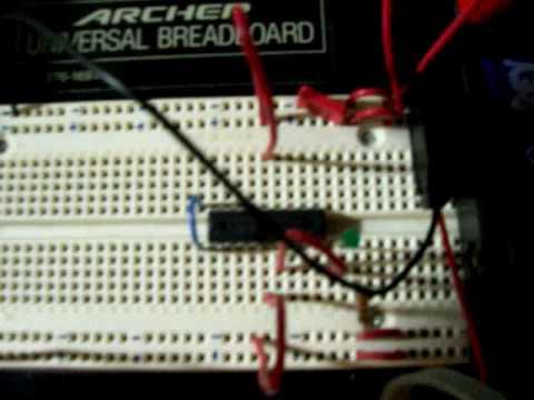 Low power PIC16F627 37KHz blinker