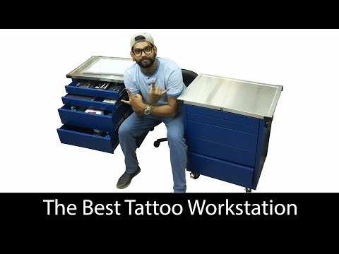 Amazing Tattoo workstation  Tattoo setup   Arm Rest   Surprise   vlog-2