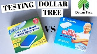 DOLLAR TREE CLEANING PRODUCT TEST | Magic Eraser Showdown | How Good Is It To The Real Thing?