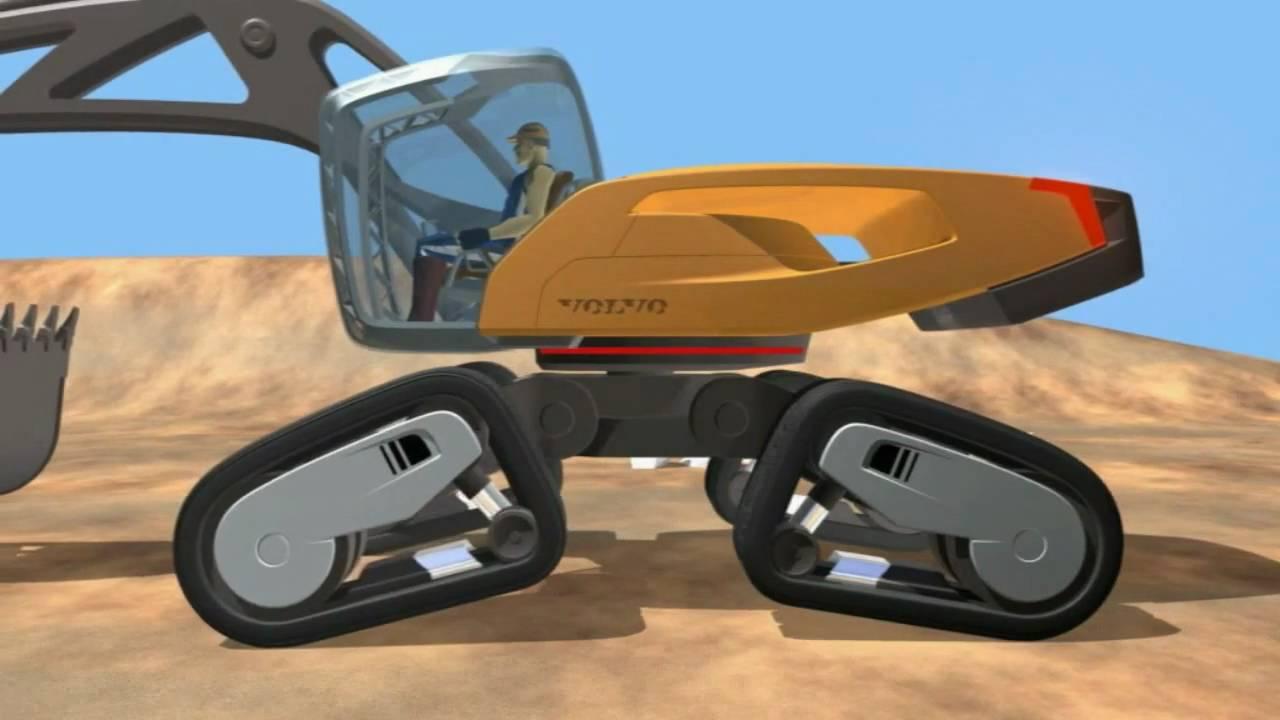 Volvo SFINX - Volvo's futuristic Excavator concept machine - YouTube