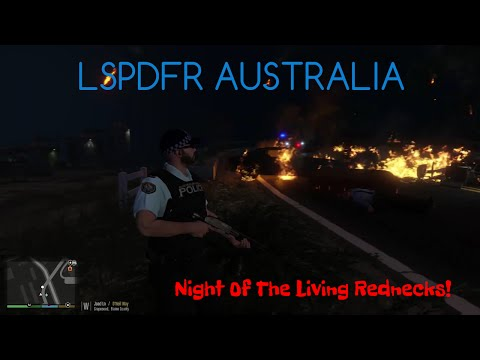 GTA V - LSPDFR Australia - Night Of The Living Rednecks! - AFP Holden Sportswagon Patrol